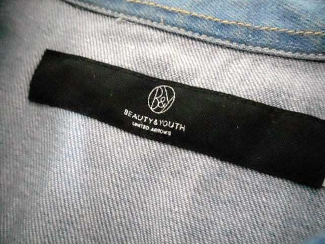 □ユナイテッドアローズ ヴィンテージ 7分袖 デニムシャツ/メンズ/S☆新品 < ブランドの