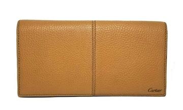 正規美品カルティエ長財布サドルステッチ二つ折りメンズ財布