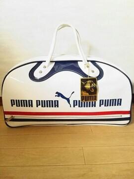 80s PUMA エナメル ボストン バッグ 未使用 やや難あり