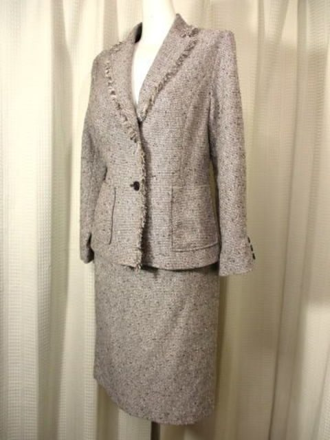 【MICHELICA】茶系のスリーピースです(ジャケット&スカート*2) < 女性ファッションの