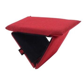 生地を採用した国産折り畳み携帯正座椅子 ワインレッド