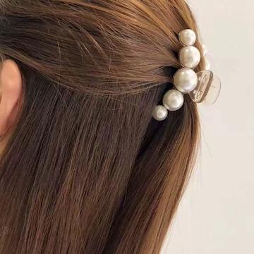 ホワイト ミニ 1個 ヘアアクセサリー 髪留め