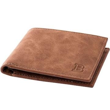 柔らかい本革 二つ折り 財布 メンズ 大容量 小銭入れ