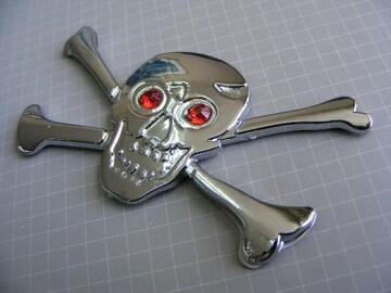● ドクロ /海賊仕様!クロームエンブレム ABS製 新品!●