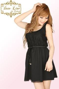Rady☆レースシフォンワンピ☆ブラック☆新品タグ付き