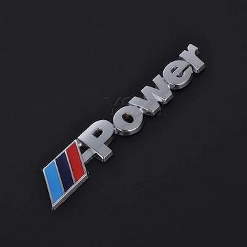 BMW/Mパワー/エンブレム/クロームメッキ/93×15