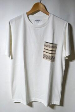 新品 グローバルワーク ポケットTシャツ 半袖 ホワイト M 未使用