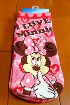 ♪新品タグ付♪ミニーマウス立体靴下ミニーソックス♪ディズニー