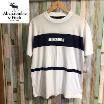 90's 旧ロゴ ABERCROMBIE & FITCH ロゴTシャツ