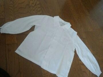 A-Dragon 制服 白のブラウス 長袖LLサイズ
