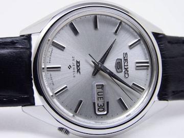 セイコー 61 ファイブ デラ 25石 自動巻時計 稼働 美品!。