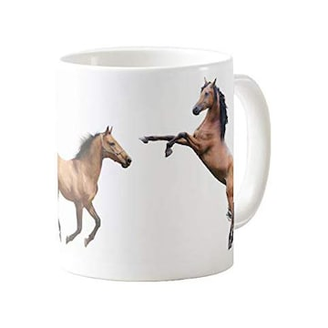 躍動する馬のマグカップ (C:後ろ足で立つ馬と駆けている馬)