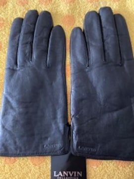 LANVINランバン羊皮革手袋インナーニット22