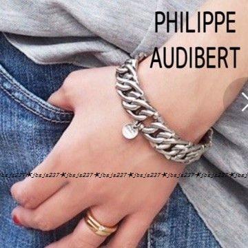 PHILIPPE AUDIBERT フィリップオーディベール ワイドチェーンブレスレット シルバー