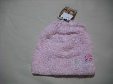 wb55 女 BILLABONG ビラボン ニット帽 パイル地 ピンク