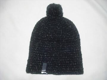 wb439 女 RIP CURL リップカール ボンボン付き ニット帽 黒