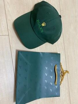 ROLEX ロレックス キャップ 帽子 緑 未使用