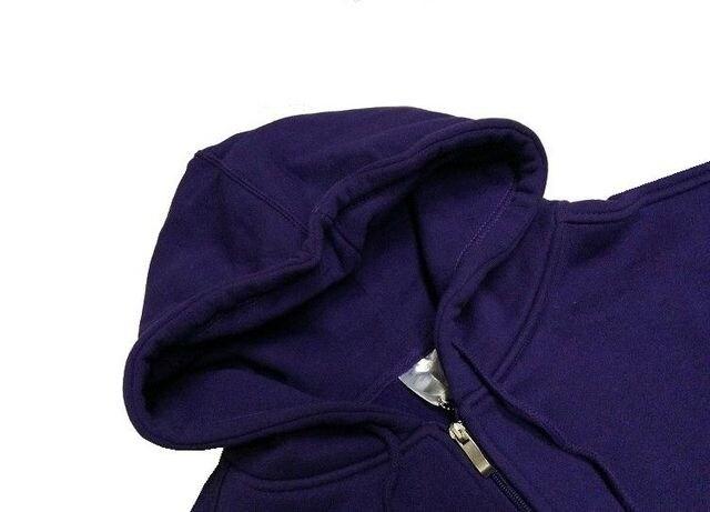 ラス�@新品ビッグシルエット★万能ジップパーカー★シンプル無地パープルXL紫 < 男性ファッションの