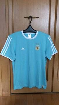 激安77%オフアディダス、アルゼンチン代表、Tシャツ(新品タグ、水色、M)
