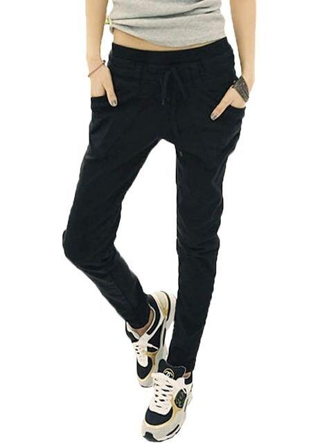 ポケットが可愛い★リラックス★カーゴパンツ(黒.XXL寸) < 女性ファッションの