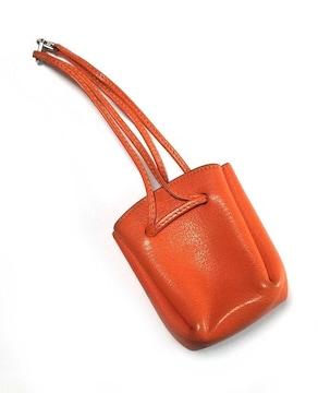 正規エルメスポーチヴァスパポーチオレンジレザー巾