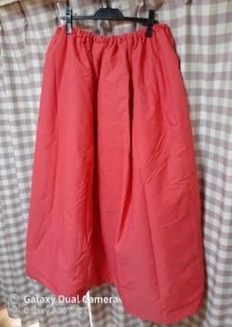 へら鮒 スカート 中綿 サイズ フリー 赤系 暖かい 程度良! 1回のみ使用