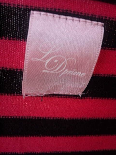 LD Prime ピンク×黒 長袖 カーディガン M N2m < ブランドの