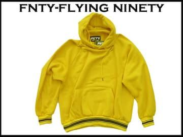 新 FNTY Flying Ninetyフード付 パーカー 黄色  XL