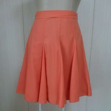 grove コーラルピンクのフレアスカート