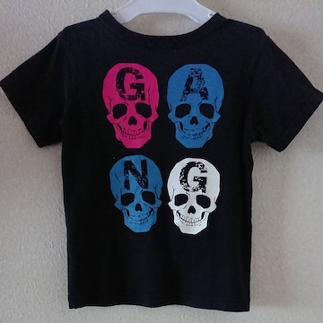 AMPERSAND120blackスカルプリントTシャツ