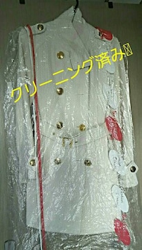【semantic design★白コート】#クリーニング済み#着丈82cm