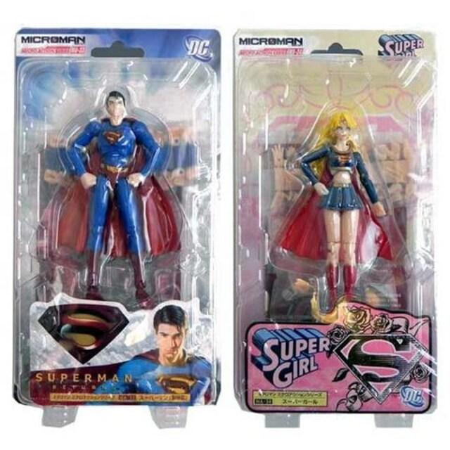 ミクロマン ミクロアクションシリーズ スーパーマン(劇場版)& スーパーガール 2体セット フィギュア  < ホビーの