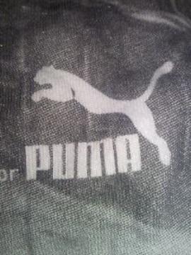 PUMA プーマ お洒落 写真 プリント デザイン 長め Tシャツ ホワイト Sサイズ