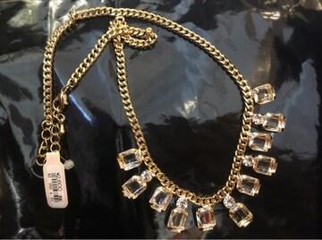 定価2,808円【新品】Luxury ビジューゴールドネックレス GOLD