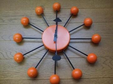 オレンジボールクロック ボールクロック 訳あり POP おしゃれ時計 時計