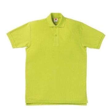 半袖ポロシャツアップルグリーンLサイズ鹿の子素材新品A2