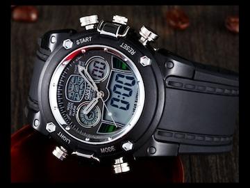 デジタル腕時計 新品★5 5 ミリタリー 軽量 美しすぎるデザイン