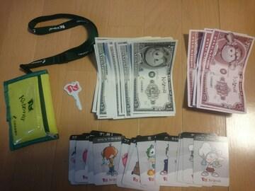 キッザニア甲子園/キッザニアのお金(56キッゾ)&財布&鍵(オモチャ)&職業カード