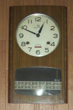 小型でかわいいリズム時計製30日巻きぜんまい振り子時計