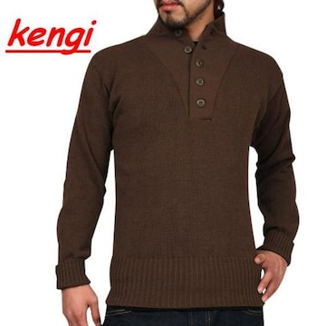 新品 米軍 5ボタンヘンリーネックセーター