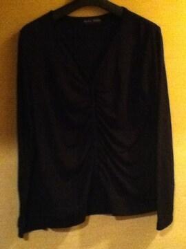 黒のカーディガン(長袖) 古着