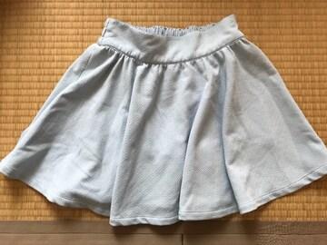 美品★フレアミニスカート 水色M