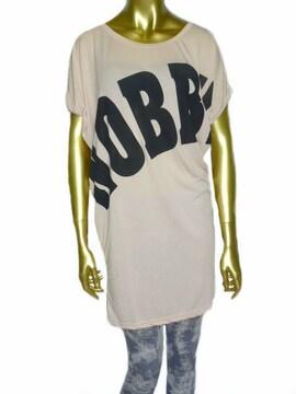 新品ゆったりビッグTシャツワンピースフリーサイズ薄ピンク