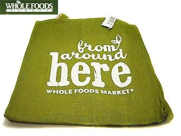 レア♪ホールフーズWhole FoodsジュートトートFrom around here