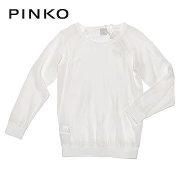 新品ピンコ シルクブラウス 白 #38 PINKO