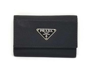 正規プラダキーケースM222カード付ブラック黒ナイロン