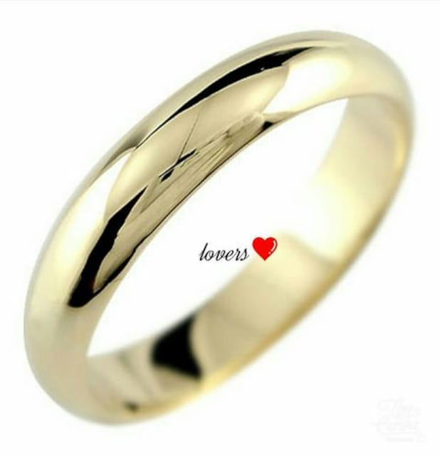 送料無料10号ゴールドサージカルステンレスシンプルリング指輪  < 女性アクセサリー/時計の