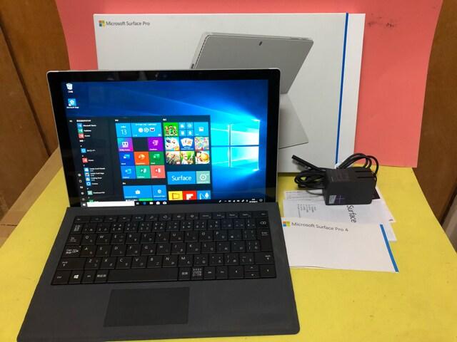 Microsoft Surface pro4 第6世代 ssd 128gb 4g タイプカバー付き  < PC本体/周辺機器の