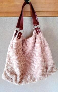 新品 ファー ショルダーバッグ 大きいサイズ バッグ Bag