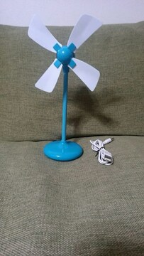 USB  スタンドファン風車型